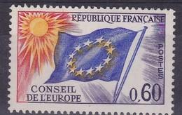 France Service, Yvert N° 34 **, Jaune Des étoiles Décalé - Service