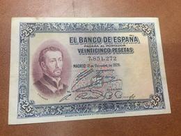 C.R. 25 PESETAS. MADRID 1926. SIN SERIE. MBC - [ 1] …-1931 : Primeros Billetes (Banco De España)