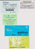 Lot 5 Tickets Hétéroclites Entrées Parc Floral Orléans, Maupassant, Salon Confort, Musée Grévin, Salon Livre, Auto Matra - Tickets - Vouchers