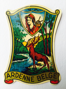 "ARDENNE  BELGE "" Cerf , Forêt   ""décalcomanie Ancienne Année 50 - Stickers"
