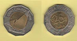 Croazia Moneta 25 Kuna 1998 Hrvatska Croatia Expo Lisbona Bimetallic - Croazia