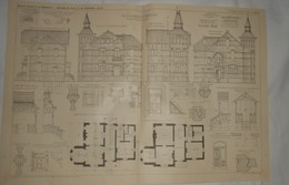 Plan D'une Villa à Hasselt En Belgique. M. Ach. Foucart, Architecte. 1909 - Arbeitsbeschaffung