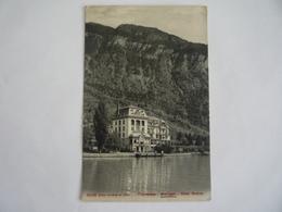 SUISSE SCHWEIZ - THUNERSEE - MERLIGEN - HOTEL BEATUS - STEMPEL 1909 STAMP - BE Berne