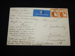 Palestine 1935 Air Mail Card To Switzerland__(L-18912) - Palestine