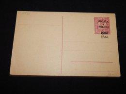 Poland 15hl Unused Overprint Stationery Card__(L-19520) - Ganzsachen