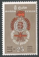 Ceylon. 1962 Malaria Eradications. 25c MNH. SG 473 - Sri Lanka (Ceylon) (1948-...)