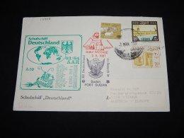 Sudan 1987 Port Sudan Schulschiff Deutschland Cover__(L-17998) - Sudan (1954-...)