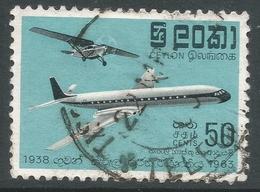 Ceylon. 1963 25th Anniv Of Airmail. 50c Used. SG 474 - Sri Lanka (Ceylon) (1948-...)