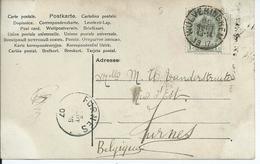 Fantasiekaart Met OCB 53 - Afstempeling WULVERINGHEM - COBA 8 - 1893-1907 Wapenschild