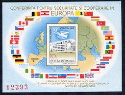 ROMANIA 1983 European Security Conference Block MNH / ** .  Michel Block 196 - Blocks & Sheetlets