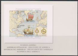Europa Cept 1992 Iceland Postcard With Reproduction Of M/s (unused)  ** Mnh (39341) - 1992