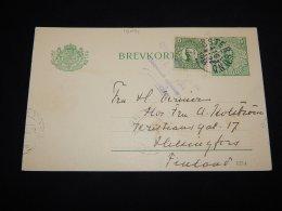 Sweden 1915 Östersund Censored Stationery Card To Finland__(L-19071) - Postal Stationery
