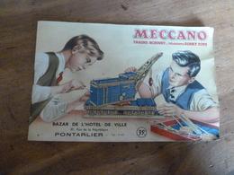 Catalogue  MECCANO- Trains Horby- Dinky Toys , Origine Du BAZAR DE L'HOTEL DE VILLE De Pontarlier - Meccano