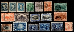 Etats-Unis Belle Petite Collection D'anciens 1857/1924. Bonnes Valeurs. B/TB. A Saisir! - United States