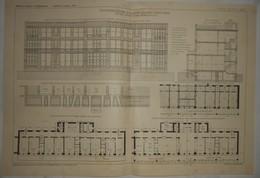 Plan Du Sanatorium Des Pins à La Motte Beuvron En Loir Et Cher. M. H. Moreau Et H. Rapine, Architectes. 1909 - Travaux Publics