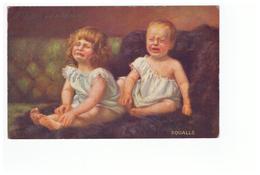 Illustrateur Illustration Raphael Tuck Série 9911 Oilette Weinende Kinder Squalls Enfants En Pleurs - Tuck, Raphael