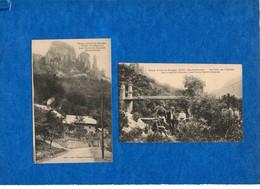 74 - CUSSY -2 Cartes  (Les Rives Du Chéran, Pont De L'abime, ...)  Ed Grimal   CPA - France