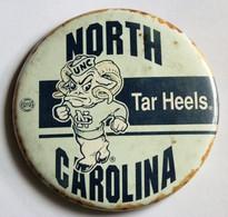Rare Très Grand Badge Ancien Tar Heels North Carolina Club Universitaire Basketball NCAA University College - Apparel, Souvenirs & Other