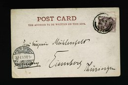 A5577) UK Grossbritannien Postcard 03/07/01 To Eisenberg / Germany - 1840-1901 (Viktoria)