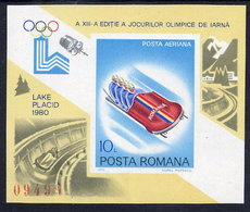 ROMANIA 1979 Winter Olympic Games Block MNH / ** .  Michel Block 165 - Blocks & Sheetlets