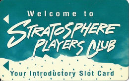 Stratosphere Casino - Las Vegas NV - 1st Issue Introductory Slot Card - Casino Cards