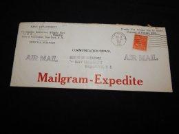 USA 1941 Portsmouth Mailgram-Expedite Cover__(LB-501) - Briefe U. Dokumente