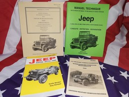 PROMO LIVRES Jeep Willys  4 Ouvrages Indispensables BECKER MB GPW HOTCHKISS M201 - Véhicules
