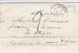 LETTRE . 7 OCT 49. ARDENNES ATTIGNY.  BOÎTE RURALE B  =  SEMUIS - Marcophilie (Lettres)