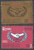 Ceylon. 1965 International Co-Operation Year. MH Complete Set. SG 507-508 - Sri Lanka (Ceylon) (1948-...)