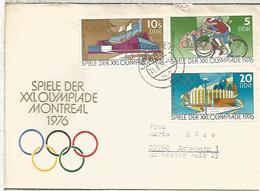 ALEMANIA DDR2 FDC JUEGOS OLIMPICOS DE 1976 MONTREAL DEPORTE - Verano 1976: Montréal