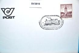 SV3815 80 Jahre Eisenbahn Korneuburg-Ernstbrunn, 2100 Korneuburg AT 29.9.84 / 1 - Marcophilie - EMA (Empreintes Machines)