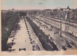 PARIS. PANOAMA DE LA RUE DE RIVOLI. A PAPEGHIN. FOTO PHOTO GRAND FORMAT SIZE 29x21CM- BLEUP - Lieux