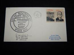 USA 1987 Saint Ignace USCGC Biscayne Bay Cover__(L-17781) - Estados Unidos