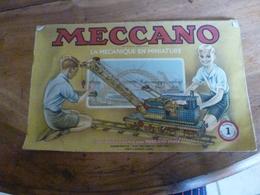 Manuel D'Instruction  MECCANO N° 1- Avec Modèles De Constructions (20 Pages Comprenant La Couverture) - Meccano