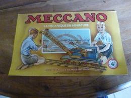 Manuel D'Instruction  MECCANO N° 4A- Avec Modèles De Constructions (24 Pages Compris Couverture) - Meccano