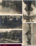Lot De 10 Photos-cartes Dont 2 Sur La Visite Des Souverains « Les Inondations 1925-1926 » - Ed. Rotobrome 95, Forest - Inondations