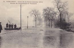 VERNEUIL - Route De Vernouillet à Verneuil - Crue De La Seine 1910 - Verneuil Sur Seine