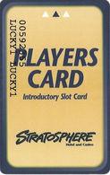 Stratosphere Casino - Las Vegas NV -  Introductory Slot Card - Casino Cards