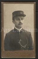 Photo-carte De Visite / CDV / Homme / Man / Trambestuurder (?) / Louis Van Den Buys / Photographer A. Van Horenbeek (?) - Ancianas (antes De 1900)