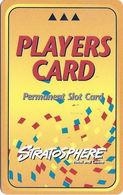 Stratosphere Casino - Las Vegas NV -  BLANK Slot Card - 2nd Line Reverse Starts 'privileges' - Casino Cards