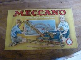Manuel D'Instruction  MECCANO N° 1 - Avec Modèles De Constructions (20 Pages Compris Couverture) - Meccano