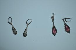 2 Paires De Pendentes Argent Ancienne - Earrings