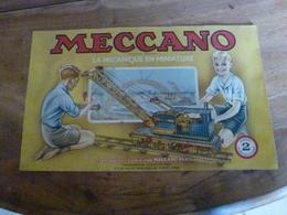 Manuel D'Instructions  MECCANO N° 2 - Avec Modèles De Constructions (28 Pages Compris Couverture) - Meccano