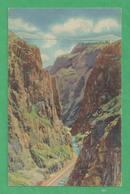 Royal Gorge Canyon - 1911 - Vintage Color Photo Postcard [#3037] - United States
