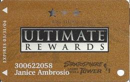 Stratosphere Casino - Las Vegas NV -  Slot Card With Light Logo - Casino Cards
