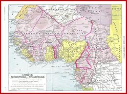 Carte Politique De L'Afrique Occidentale Recto, Carte économique Verso, Larousse 1951 - Vieux Papiers