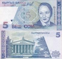 Kyrgyzstan - 5 Som 1997 UNC Lemberg-Zp - Kirghizistan