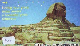 Télécarte Japon Egypte (326) SPHINX * PYRAMIDE * TELEFONKARTE EGYPT Related *  Ägypten Phonecard Japan * - Paysages