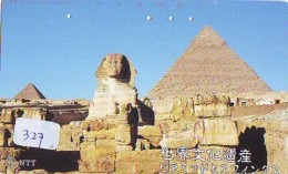 Télécarte Japon Egypte (327) SPHINX * PYRAMIDE * TELEFONKARTE EGYPT Related *  Ägypten Phonecard Japan * - Paysages