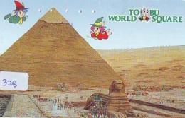 Télécarte Japon Egypte (328) SPHINX * PYRAMIDE * TELEFONKARTE EGYPT Related *  Ägypten Phonecard Japan * - Paysages